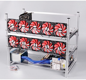 12 GPU Mining rig Aluminum Stackable Open air Mining Case Computer ETH Frame Rig for bitcon Miner Kit Unassembled Ethereum -